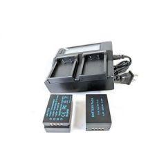 Bescor 2x Fuji NPT125 Battery and Single Dual Bay LCD Display Charger Kit