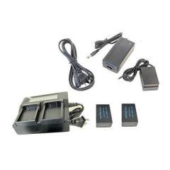 Bescor Fuji NPT125 Battery, Charger, NPT125 Battery Dummy/Coupler & AC Adapter for Dummy/Coupler
