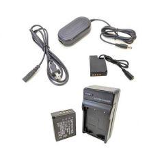 Bescor Fuji NPW126S Battery, Charger Kit, NPW126S Dummy/Coupler & AC Adapter for Dummy Coupler