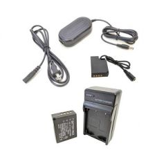 Bescor Fuji NPW126S Battery, Charger Kit, NPW126S Dummy/Coupler & AC Adapter for Dummy Coupler