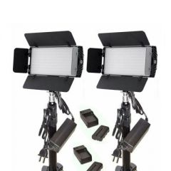 Bescor Dual Photon, Battery, Light Stand & AC Adapter Kit