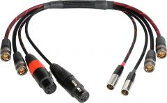 Laird Digital Cinema BD-A2V2MON-18IN Laird  Multi-Channel 6GSDI Coax & Audio Interface Cable for Blackmagic Video Assist Monitor - 18 Inch