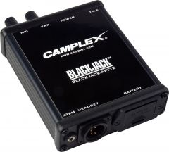 Camplex BLACKJACK-APTT2  ATEM Headset Push-to-Talk Belt-Clip Active Adapter 4-Pin Male XLR