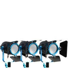 Dracast DRBR-F-400D BoltRay LED Daylight 3-Light Kit