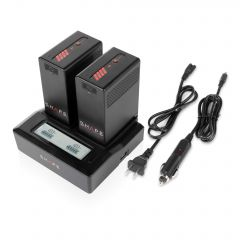 Shape SHAPE BP-U65 lithium-ion two batteries with dual LCD charger - BPU2B