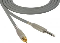 Sescom BSC100SRGY Audio Cable Belden Star Quad 1/4 TS Mono Male to RCA Male Gray - 100 Foot