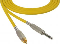 Sescom BSC100SRYW Audio Cable Belden Star Quad 1/4 TS Mono Male to RCA Male Yellow - 100 Foot