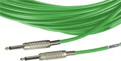 Sescom BSC100SSGN Audio Cable Belden Star Quad 1/4 TS Mono Male to Male Green - 100 Foot