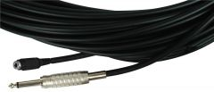 Sescom BSC50SMJ   Audio Cable Belden Star-Quad 1/4 Inch Male to 3.5mm Mono Female Black - 50 Foot