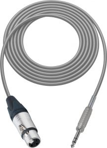 Sescom BSC75XJSZGY Audio Cable Belden Star Quad 3-Pin XLR Female to 1/4 TRS Balanced Male Gray - 75 Foot