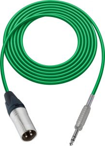 Sescom BSC75XSZGN Audio Cable Belden Star Quad 3-Pin XLR Male to 1/4 TRS Balanced Male Green - 75 Foot