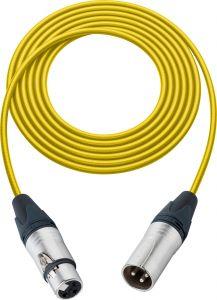 Sescom BSC75XXJYW Mic Cable Belden Star Quad 3-Pin XLR Male to 3-Pin XLR Female Yellow - 75 Foot