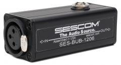 Sescom BUB-1206 1-Channel XLR Balanced to RCA Unbalanced Audio Converter