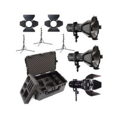 Hive Lighting C-2H1WKIT  3 Light Kit with 2 HORNET 200-C Par Spot Lights & 1 WASP 100-C Par Spot Light, 3 Stands & C-Series 3 Light Hard Rolling Case with Custom Foam