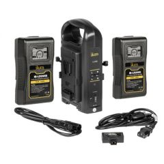 Ikan C-2KIT-95S-USB Dual Pro Battery Charger w/ 2x 95Wh V-Mount...