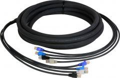 Laird Digital Cinema CES-RJ45-300 Laird 4-Channel RJ45 CAT5e Tactical Ethernet Snake Cable - 300 Foot