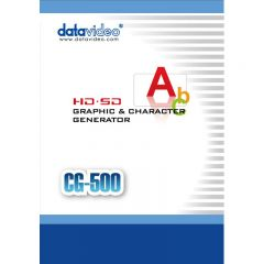 DataVideo CG-500TC Kit HD/SD Graphics Character Generator