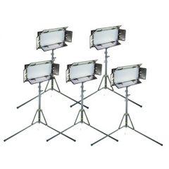 Ikan CHR550-v2 Kit w/ 5 x ID508-v2 LED Studio Light