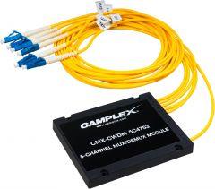Camplex CMX-CWDM-5C4753   5 Channel CWDM Multiplexer/Demultiplexer with LC Fiber Pigtails - 3 Foot