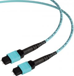 Camplex CMX-MTPMM-003   MTP Elite PC Male to MTP Elite PC Male 12-Fiber Cable-OM3 AQUA Multimode OFNP Jacket Round-3 Foot