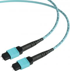 Camplex CMX-MTPMM-015   MTP Elite PC Male to MTP Elite PC Male 12-Fiber Cable-OM3 AQUA Multimode OFNP Jacket Round-15 Foot