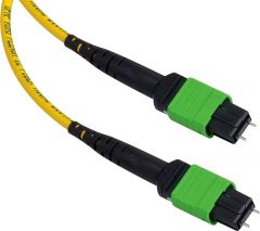 Camplex CMX-MTPSM-003   MTP Elite APC Male to MTP Elite APC Male 12-Fiber Cable-Yellow Single Mode OFNP Jacket Rnd-3 Foot