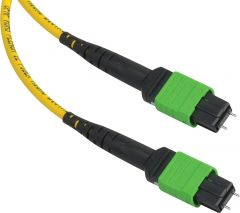 Camplex CMX-MTPSM-015   MTP Elite APC Male to MTP Elite APC Male 12-Fiber Cable-Yellow Single Mode OFNP Jacket Rnd-15 Foot