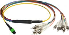 Camplex CMX-MTPSMST-010   MTP Elite APC Male to 12 ST UPC Duplex External Yellow Single Mode Fiber Breakout Cable-10 Foot
