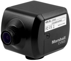 Marshall Electronics CV503 Marshall  Miniature HD Camera (3G/HD-SDI) with Interchangeable Lens - RS485 Adjustable and Audio Embedding Ability