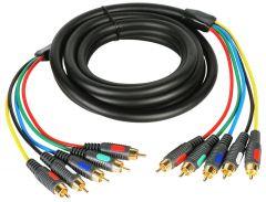 TecNec CVA-CVA-50 50ft Component Video Cable With Dual RCA Audio...