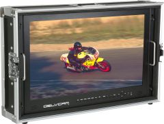 Delvcam Monitor Systems DELV-4KSDI24 Delvcam  4K UHD HDMI 3G-SDI Quad View Broadcast LCD Monitor Mounted in Rugged Carrying Case - 24 inch
