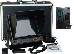 Delvcam Monitor Systems DELV-SDI-10-AB Delvcam 9.7in. SDI Monitor - Dual HDMI Input & 1 HDMI Output & Anton Bauer Bat