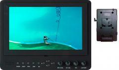 Delvcam Monitor Systems DELV-SDI-7-VM Delvcam Advanced Function 7-Inch 3G-SDI Camera-Top LED Monitor & V-Mount Battery Plate