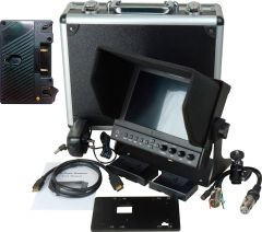Delvcam Monitor Systems DELV-WFORM-7-AB Delvcam 7 Inch Camera-Top Monitor w/ Video Waveform and Anton Bauer Battery Plat