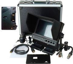 Delvcam Monitor Systems DELV-WFORM7SDIAB Delvcam 7in. Camera-Top SDI Monitor w/ Video Waveform and Anton Bauer Mount