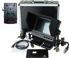 Delvcam Monitor Systems DELV-WFORM7SDIVM Delvcam 7in. Camera-Top SDI Monitor w/ Video Waveform and V-Mount Battery Plate