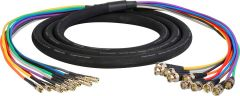 Laird Digital Cinema DINB-10SNK-35 Laird  Gepco VS10230 3G/HD-SDI 10-Channel DIN 1.0/2.3 to BNC Male Video Adapter Snake Cable - 35 Foot