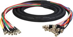 Laird Digital Cinema DINB-12SNK-15 Laird  Gepco 3G/HD-SDI 12-Channel DIN 1.0/2.3 to BNC Male Video Adapter Snake Cable - 15 Foot