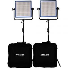Dracast LED1000 PLUS Tungsten 2-Light Kit with Stands