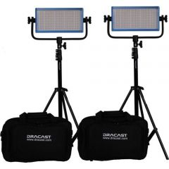 Dracast LED500 PLUS Bi-Color 2-Light Kit with Stands
