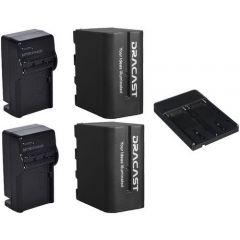 Dracast  2x NPF-Battery and 1x Charger Combo 2200 mAh