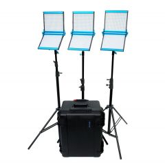 Dracast S-Series Bi-Color LED1000 Foldable 3-Light Kit w/ Hard Case