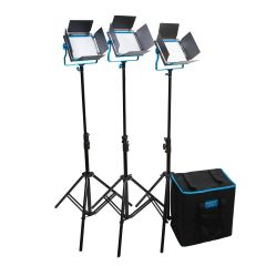 Dracast S-Series LED500 Daylight 3-Light Kit w/ Hard Case NPF Battery Plates