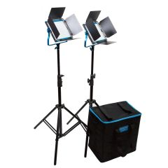 Dracast S-Series LED500 Daylight 2-Light Kit w/ Soft Case V-Mount Plates Plates