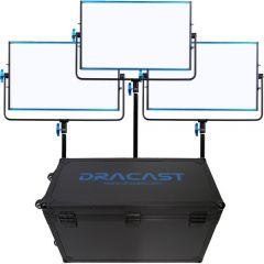Dracast 3x SILQ1000B LED Light Kit (Bi-Color)