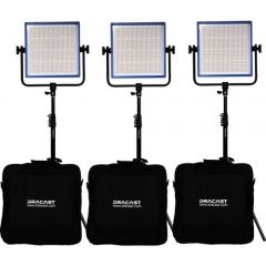Dracast LED1000 PLUS Tungsten 3-Light Kit with Stands