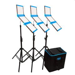 Dracast S-Series Daylight LED1500 Foldable 2-Light Kit with Soft Case