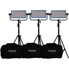 Dracast LED500 PLUS Bi-Color 3-Light Kit with Stands