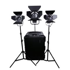 Dracast LED1400 Daylight Fresnel 3-Light Kit
