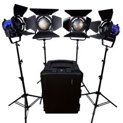 Dracast LED3000 Daylight Fresnel 4-Light Kit